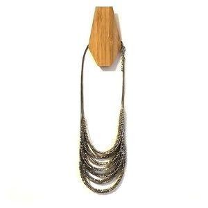 Francesca's silver multi chain necklace